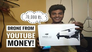 Bought 70,000 Rs Drone From YouTube Money at 20 Age   DJI Mavic Air   India  