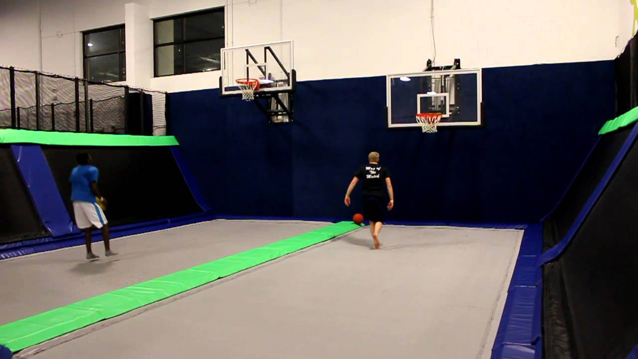 basketball at epic air trampoline park in south elgin il youtube. Black Bedroom Furniture Sets. Home Design Ideas