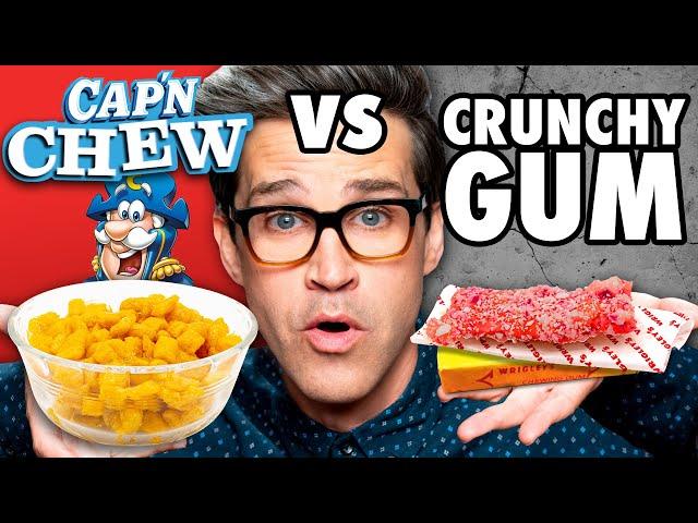 Chewy Crunchy Food vs. Crunchy Chewy Food Taste Test thumbnail