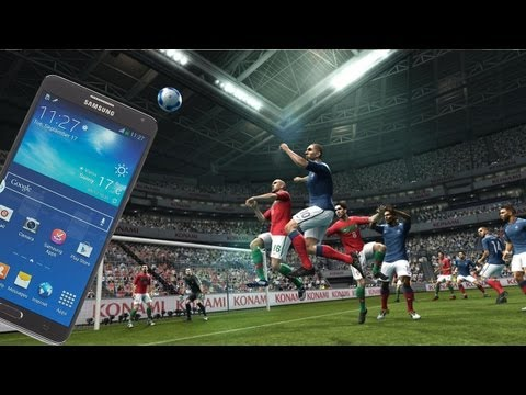 PES 2012 Gameplay on Samsung Galaxy Note 3 Gaming Performance Review Full HD (1080p)
