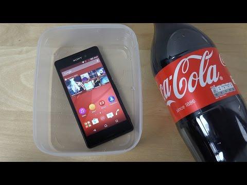 Sony Xperia M4 Aqua - Coca-Cola Test! (4K)