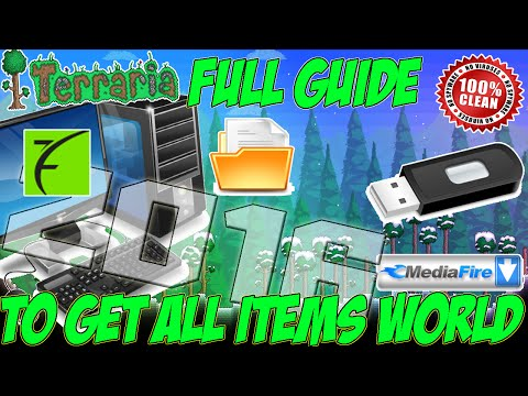 How To Save Terraria 1.2.4.1 All Items World On The Xbox 360 - (2016)