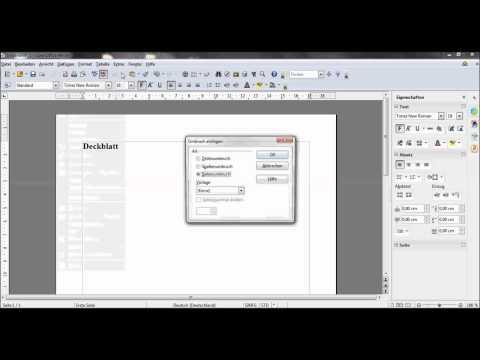 Hausarbeit schreiben - Seitenzahl auf Seite 3 beginnen - OpenOffice