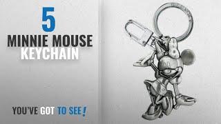 Top 10 Minnie Mouse Keychain [2018]: Disney Waving Minnie 2D Pewter Keyring