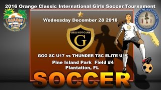 Girls Soccer | NJ STALLIONS GGG U17  vs THUNDER TSC ELITE U17