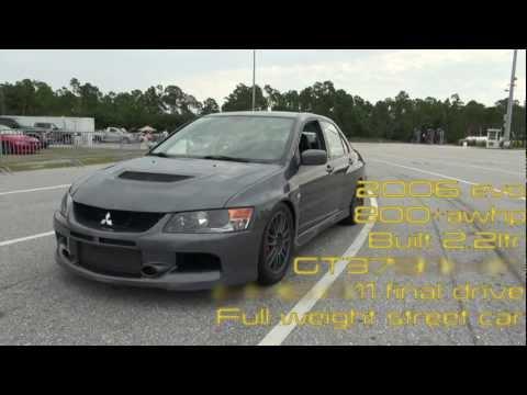 Evo IX 800+awhp Street car 1/4 Mile GT3794 HTA HKS 4:11 Final drive