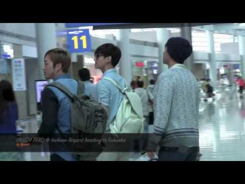 130524 TVXQ @ Incheon airport  heading to Fukuoka