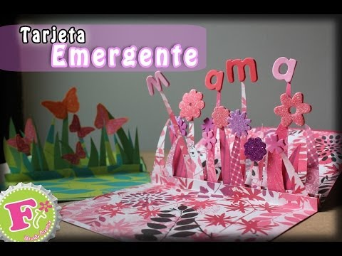 Tarjeta de Pliegues Pop Up para el día de las madres// Pleated Center Pop Up Card klip izle