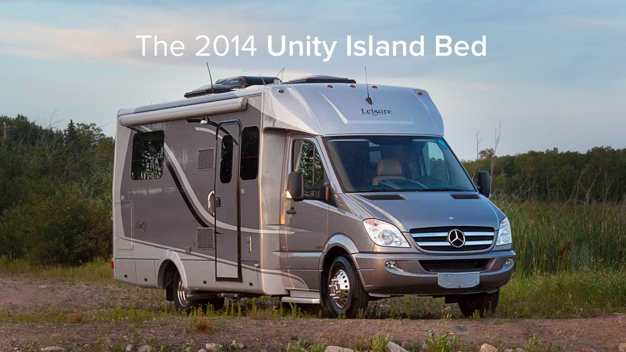 Travel Van With Bed >> 2014 Unity Island Bed - YouTube