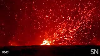 Watch a mini tornado of spewing lava in action | Science News