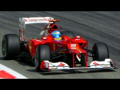 Formula 1 (F1) 2012 Cars PURE V8 Engine SOUND