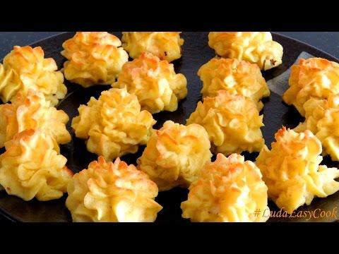 КАРТОФЕЛЬНЫЙ Праздничный гарнир из картофеля с сыром Дюшес для НОВОГОДНЕГО СТОЛА 2018 Pomme Duchesse