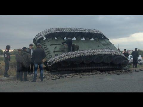 В Омске перевернулся Танк Т-72  10.09.2014