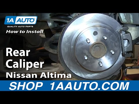 How To Install Replace Stuck Rear Caliper 2002-06 Nissan Altima