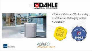 Dahle 20304 Strip Cut Paper Shredder - Warranty