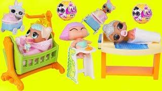 LOL Surprise Dolls get Custom Lil Sisters New Baby Bon Bon Stroller