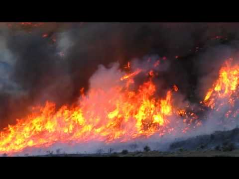 Raging Pinto Fire, in Ely Nevada HD