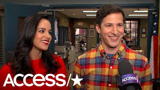 'Brooklyn Nine-Nine's' Melissa Fumero & Andy Samberg On Their Show's Return; Amy & Jake's Honeymoon