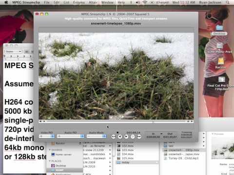 How To Mpeg Streamclip Export 16:9 Hd 720p Video video