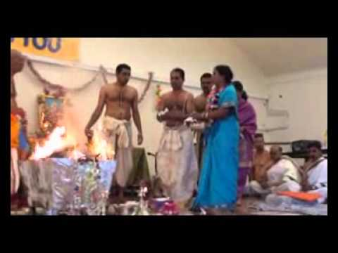 Sri Mahishasura Mardini stotra Chanting during Poornahuti of...