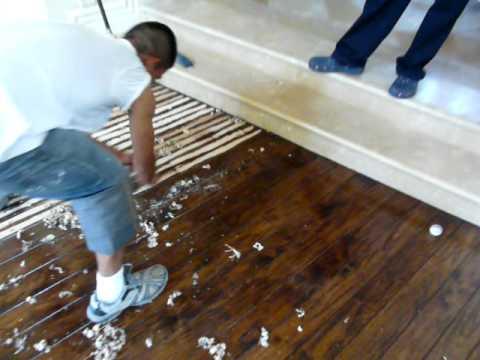 Making Hand Scraped Hardwood Floors Shine Again : Hand Scraping Hardwood Floors - YouTube