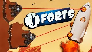 Destroying the Martian BASE! - Modded Forts Multiplayer Gameplay