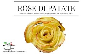 ROSE DI PATATE al forno - potato rose very easy RICETTE DI GABRI