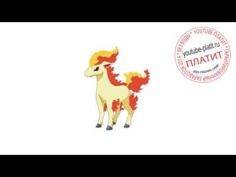 Смотреть эволюции покемонов Понита  Как нарисовать покемона ponyta