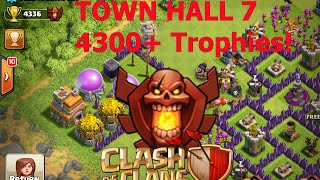 Clash of Clans - Meeting WORLDS HIGHEST TH7 Player 4300+ Trophies