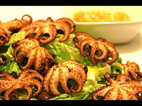 Puisori De Caracatita La Grill - Grilled Baby Octopus Adygio