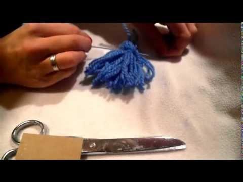 Jak Zrobić Pompon, Frędzel , Chwost / How To Make Pom Poms / Frędzle / DIY