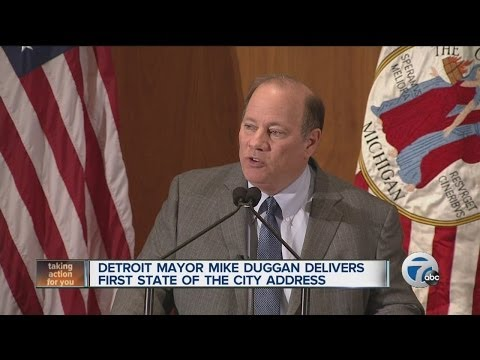 Detroit Mayor Mike Duggan delivers first State of the City address