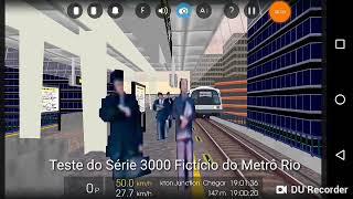 Testes no Hyundai Rotem Série 3000 Ficticio do Metrô Rio