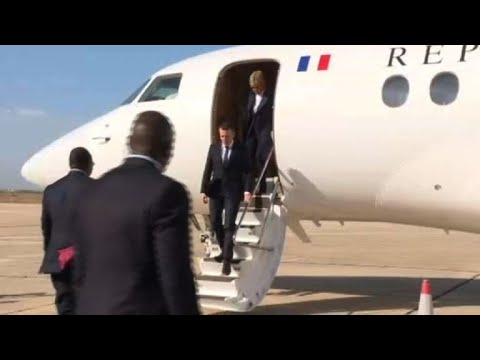 Macron arrives in St. Louis on last day of Senegal trip