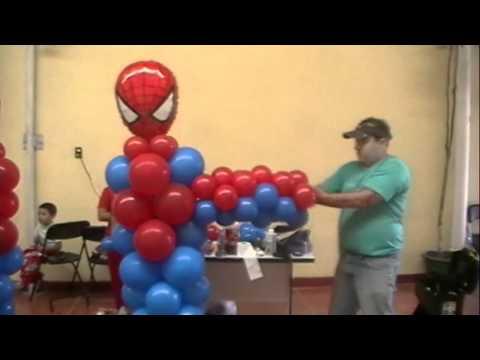 curso decoracion con globos spiderman video 4 FIGURAS