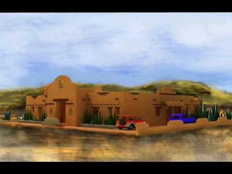 Planos de casas modelo estilo santa fe 1 arquimex planos for Casas de diseno santa fe