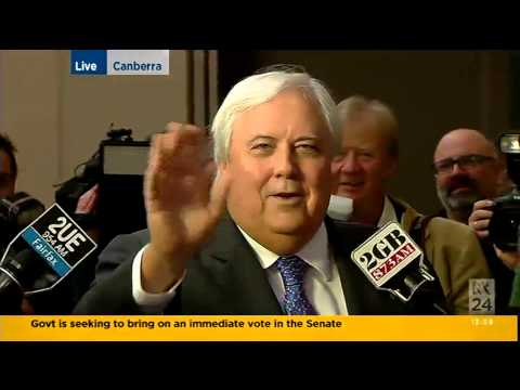 Clive Palmer announces the Mining Tax repeal and explains the whole deal.