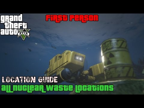 GTA 5 First Person ★ All Nuclear Waste [ Location Guide PS4 ]