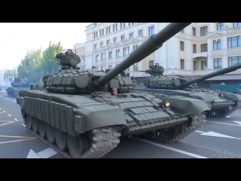 Ukraine War - Russian army Victory Day parade drills in occupied Donetsk Ukraine