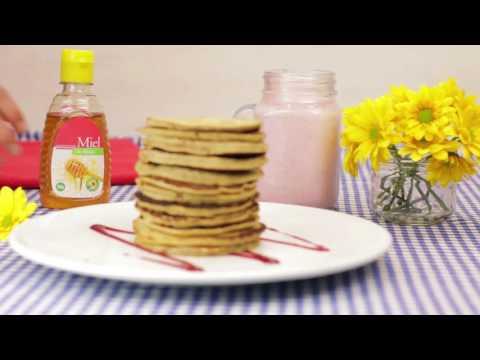 Pancakes de avena y banana
