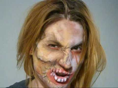 ZOMBIE MAKEOVER- Face Painting Design for Halloween
