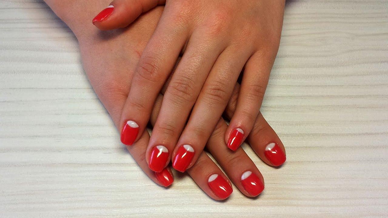 Дизайн ногтей лунный гель лаком фото