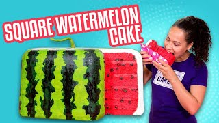 JAPANESE Square Watermelon CAKE!! | How To Cake It