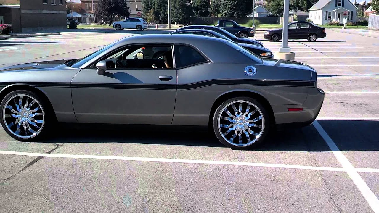 Challenger Scat Pack >> Challenger on 22s tinted - YouTube