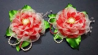 D.I.Y. Double Layered Organza Flower - Tutorial | MyInDulzens