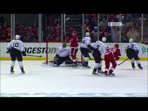Pavel Datsyuk backhand goal 1-0 May 10 2013 Anaheim Ducks vs Detroit Red Wings NHL Hockey