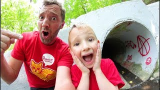 FATHER SON ADVENTURE TIME! / Creepy Sewer!