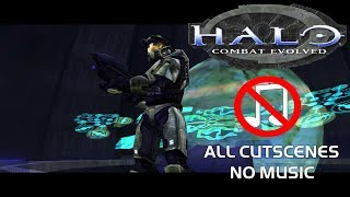 Halo CE (Classic) - All Cutscenes With NO Music | 1080p 60 FPS