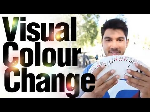 Easy Card Tricks : Magic Revealed : Visual Colour Change