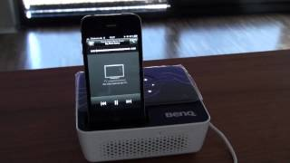 Vorstellung BenQ GP2 mit iPhone / iPod Dock